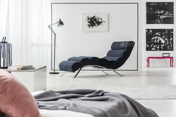 Chaise lounge and bed - Stock Photo - Images
