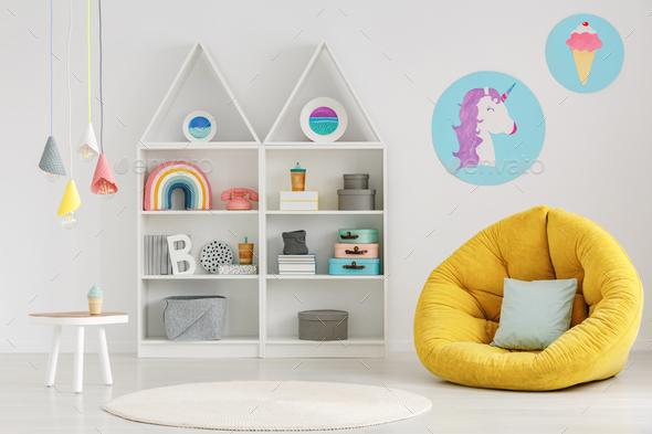 Scandi child's room interior - Stock Photo - Images