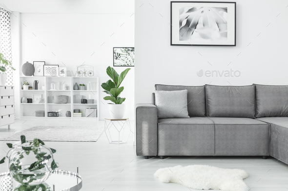 Open space living room - Stock Photo - Images