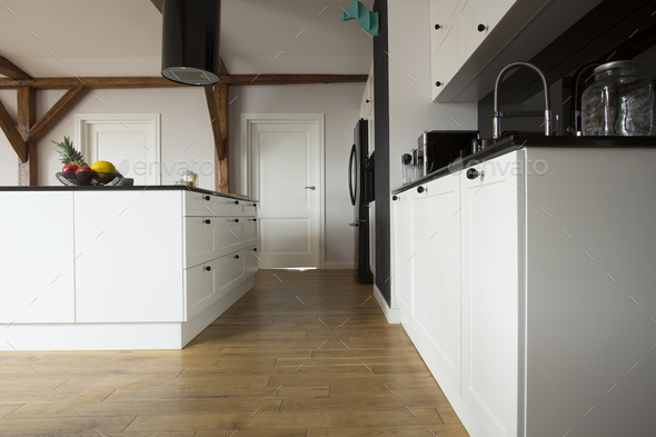 Low angle view of kitchen - Stock Photo - Images
