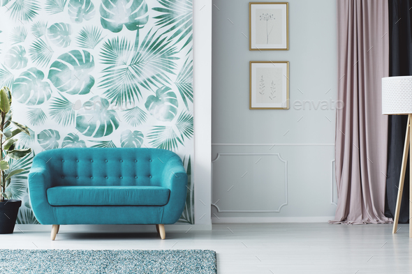 Colorful living room interior - Stock Photo - Images