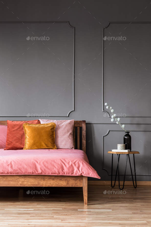 Colorful bedroom interior - Stock Photo - Images