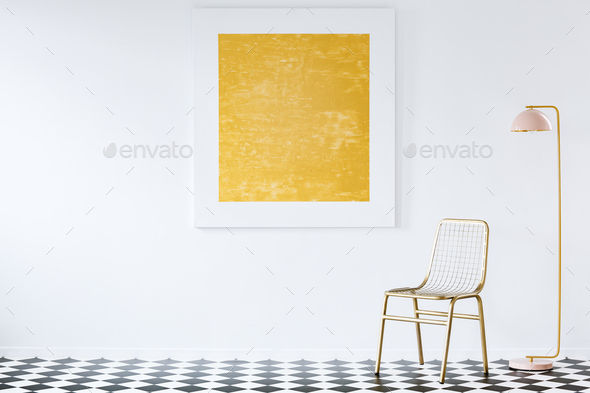 Abstract painting in luxurious interior - Stock Photo - Images