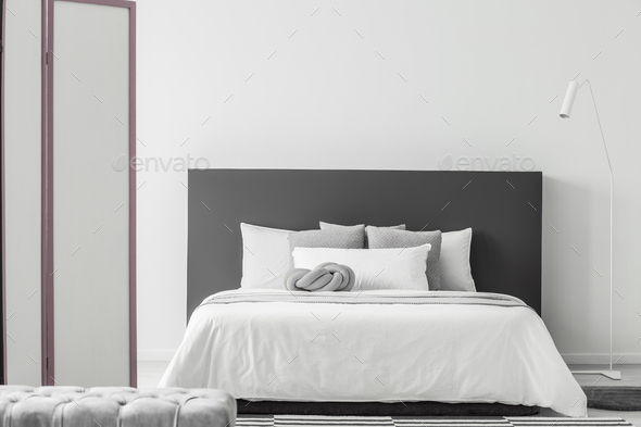 Minimal bedroom interior - Stock Photo - Images