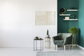 White and green interior - PhotoDune Item for Sale
