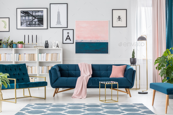 Painting in living room interior - Stock Photo - Images
