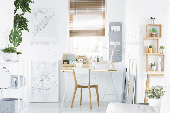 Bright home office - Stock Photo - Images