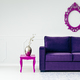 White and violet living room - PhotoDune Item for Sale