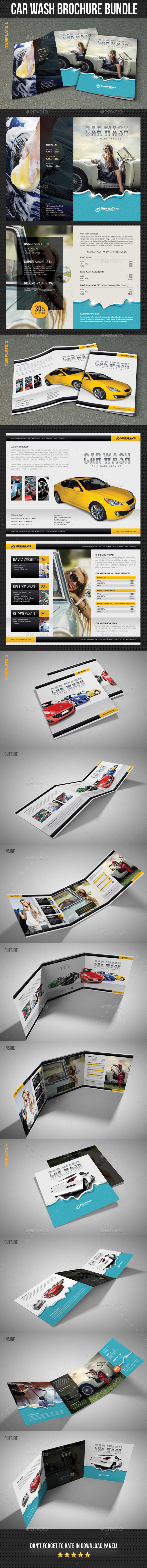Car Wash Brochure Bundle - Corporate Brochures