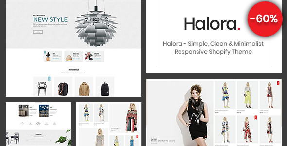 Halora – Simple, Clean & Minimalist Responsive Shopify Theme