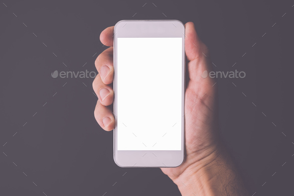 Smartphone mock up screen copy space - Stock Photo - Images