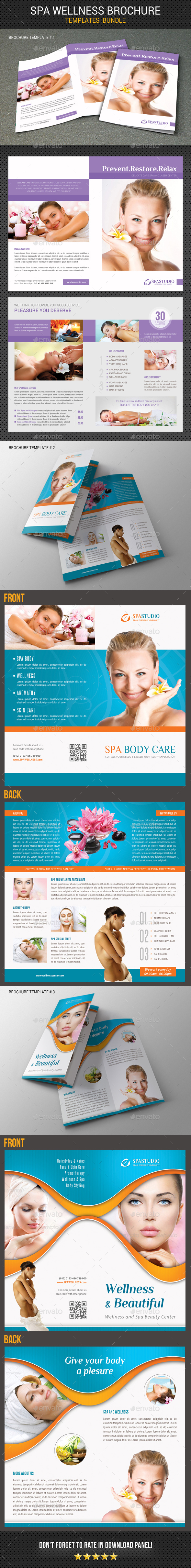Spa Wellness Brochure Bundle 02 - Corporate Brochures