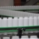Factory and Research Concept. Clip. Bottles Moving on Manufacturing Line. Bottles in Line on - VideoHive Item for Sale