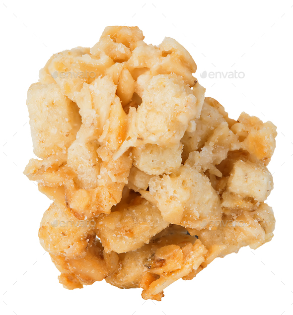 Single cereal crisp close-up isolated on a white background. - Stock Photo - Images
