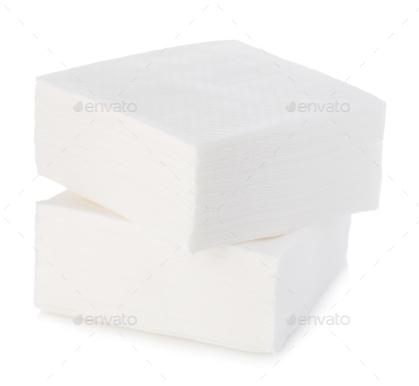 Napkins close-up isolated on a white background. - Stock Photo - Images