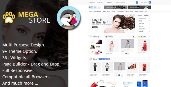 MegaStore - Multipurpose & RTL for PrestaShop 1.7.x Theme (9 Home) - Shopping PrestaShop