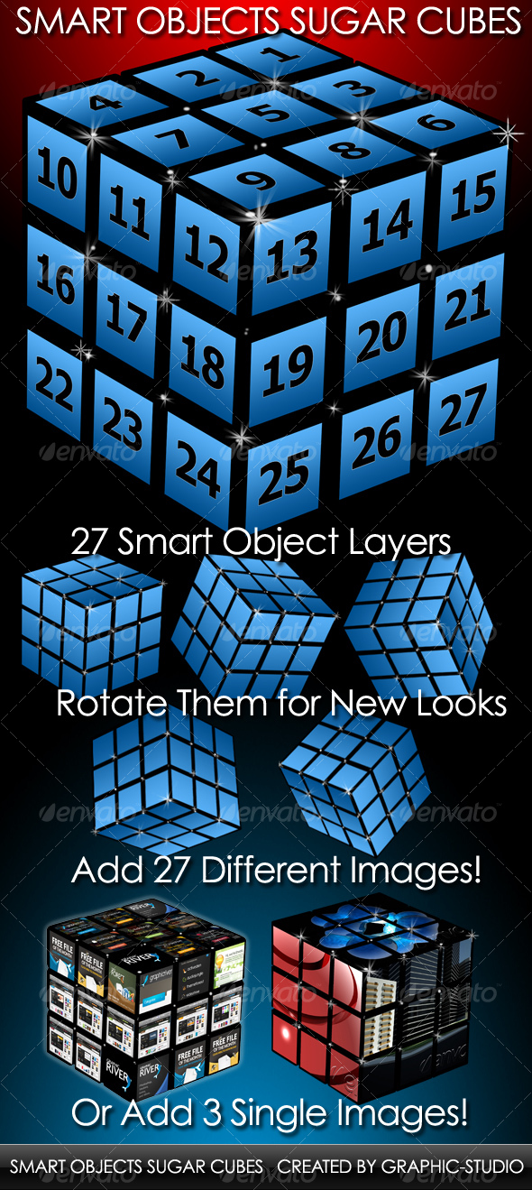 Smart Objects Sugar Cube - Backgrounds Graphics
