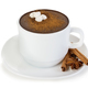 Hot chocolate close-up on a white background. - PhotoDune Item for Sale