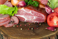 Variety of sausage products. Background. - PhotoDune Item for Sale