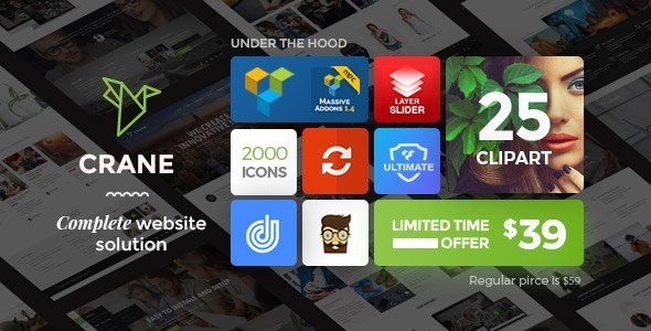 Crane - Highly Customizable Multipurpose WordPress Theme