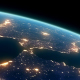 4K Earth Night Close Up High Detail Iberian Peninsula and Strait of Gibraltar - VideoHive Item for Sale