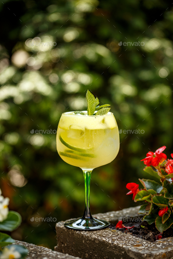 Fresh lime cocktail - Stock Photo - Images