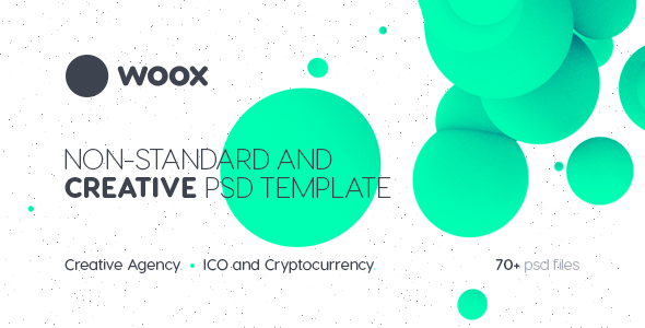 Woox - Non-Standard and Creative PSD Template for Digital Agency and ICO and Cryptocurrency Market