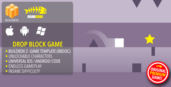 Drop Block - BuildBox 2 Game Template Document - iOS / Android / BBDOC - CodeCanyon Item for Sale
