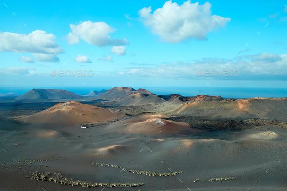 Volcano of Lanzarote Island, Spain - Stock Photo - Images