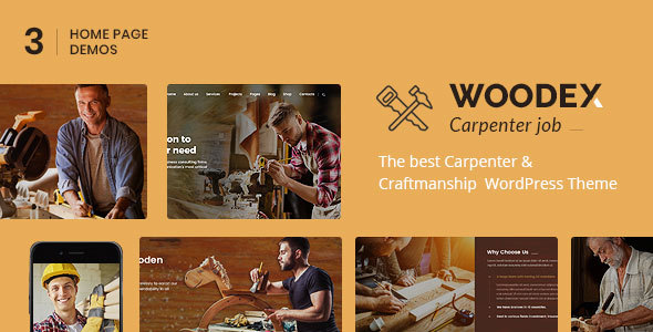 Woodex - Carpenter and Craftman Business WordPress Theme - Business Corporate