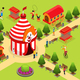 Isometric Carnival Circus Template