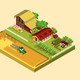 Isometric Farming Concept