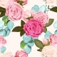 Seamless Pattern with Roses - GraphicRiver Item for Sale