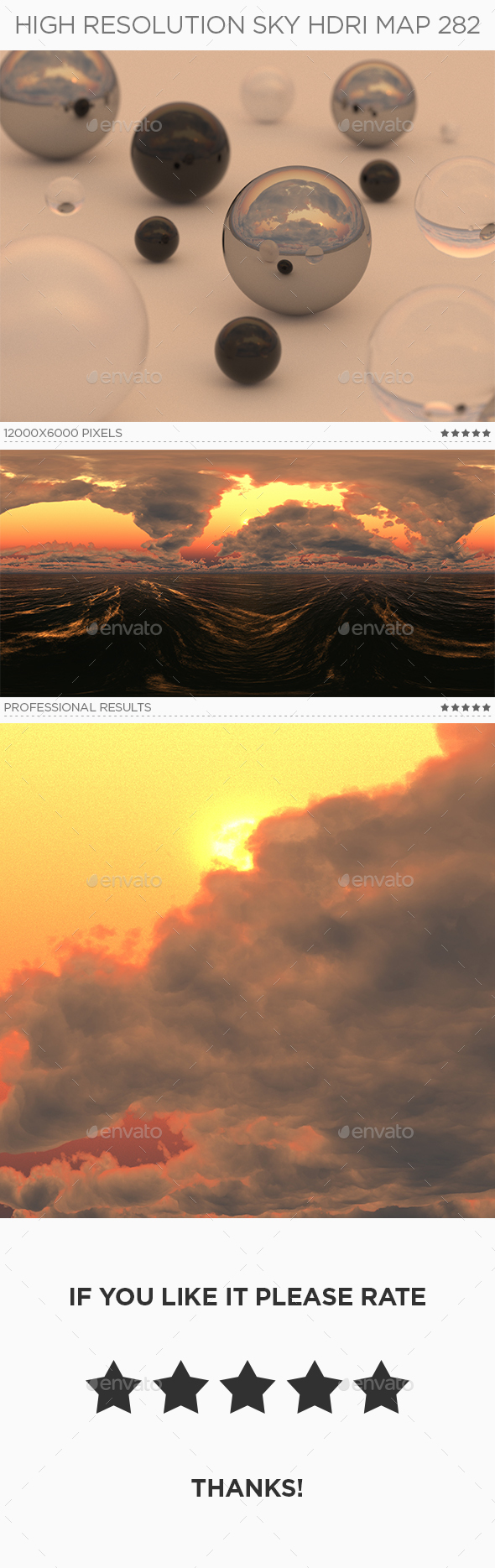 High Resolution Sky HDRi Map 282 - 3DOcean Item for Sale