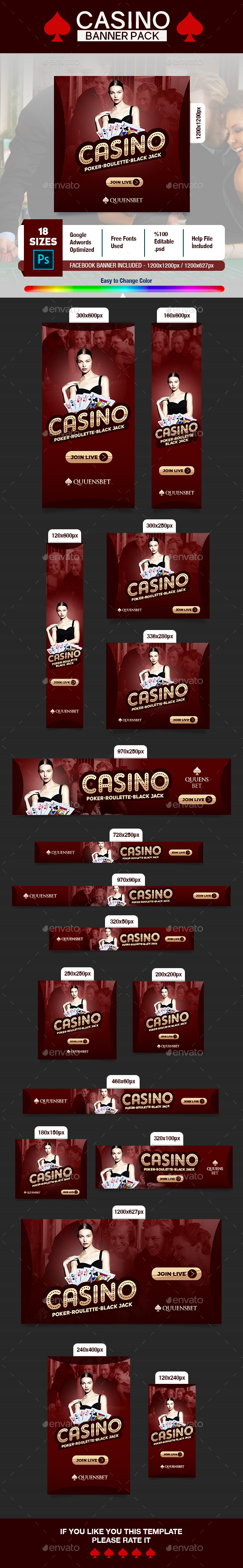 Casino Banner - Banners & Ads Web Elements