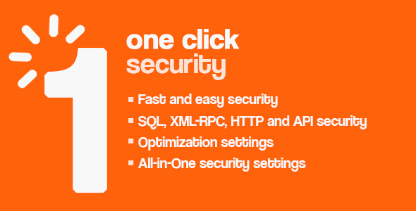 One Click - Wordpress Security - CodeCanyon Item for Sale