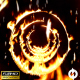 Flying Through Fire Circle Tunnel With Falling Flames - Background Loop - VideoHive Item for Sale