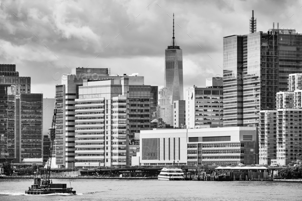 New York City waterfront, USA. - Stock Photo - Images