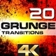 Grunge Transitions 4K - VideoHive Item for Sale