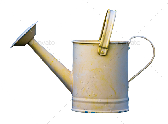 Retro Yellow Watering Can - Stock Photo - Images