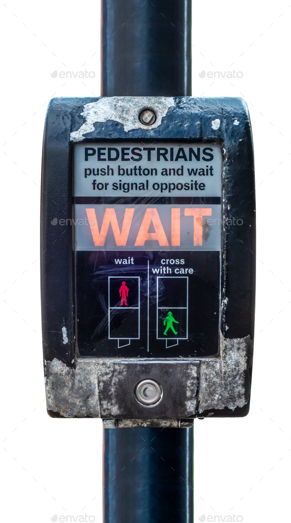 UK Pedestrian Crossing - Stock Photo - Images