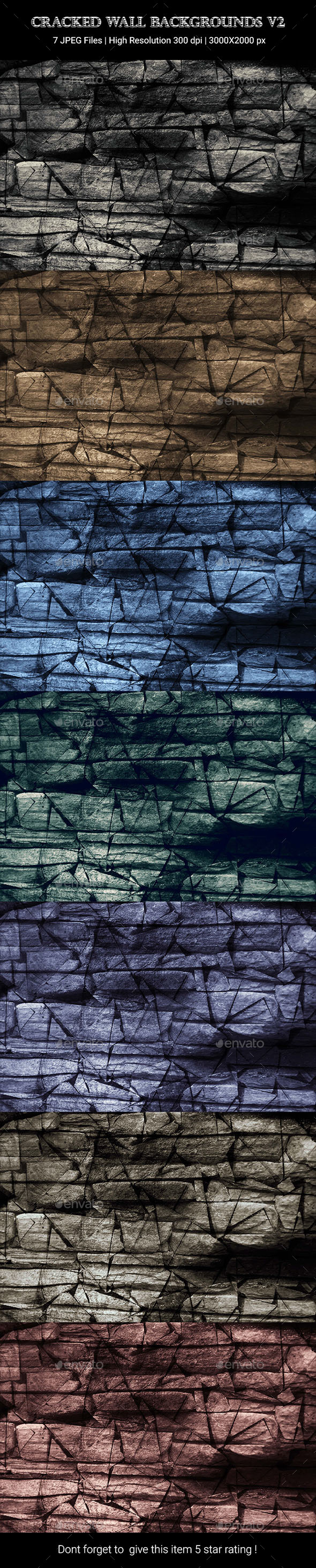 Cracked Wall Backgrounds v2