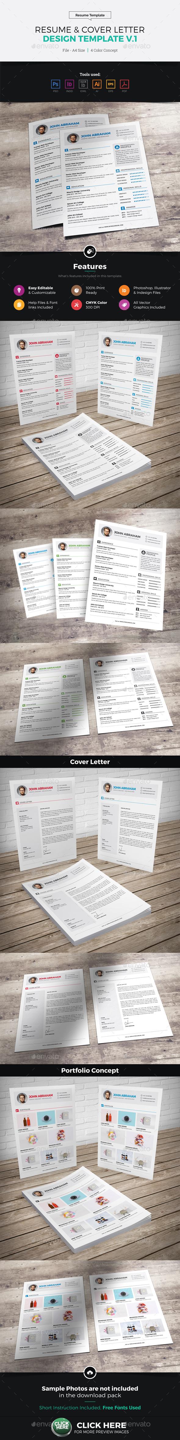 Resume & Cover Letter Design v1 - Resumes Stationery