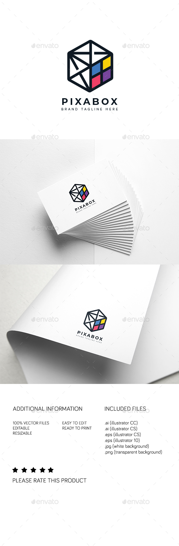 Pixabox Logo - Abstract Logo Templates