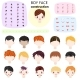 Boy Face Constructor Vector Kids Character and Guy