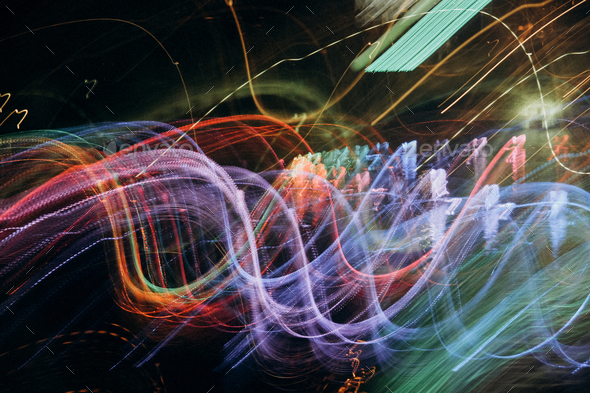 abstract colored light wave - Stock Photo - Images