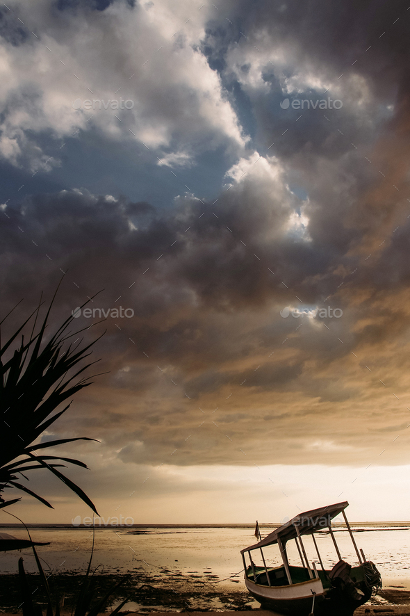 pleasure craft on ocean coast - Stock Photo - Images