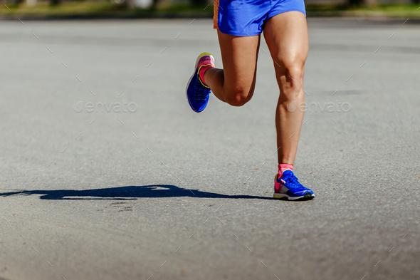 legs runner men running street - Stock Photo - Images