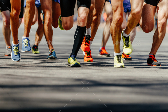 group legs runners athletes - Stock Photo - Images