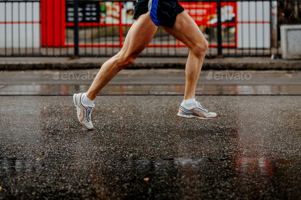 foot men runner - Stock Photo - Images